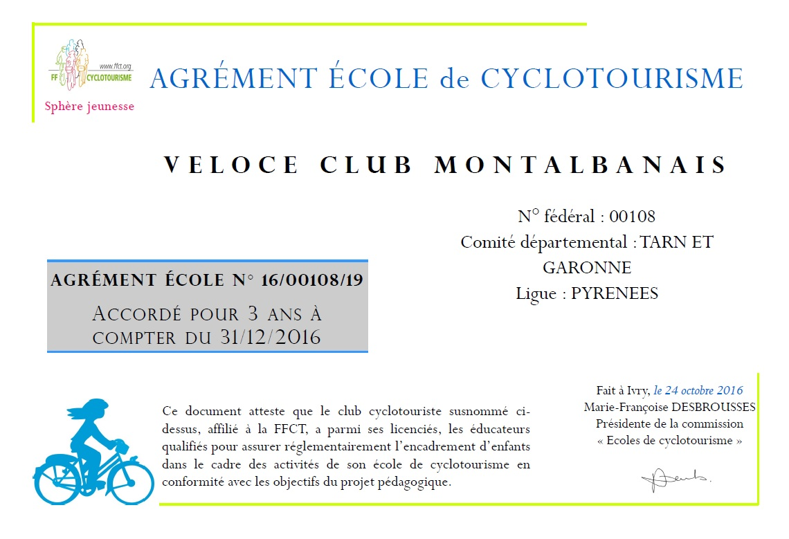 Agrment Ecole Cyclo